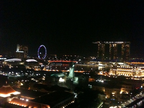 Singapore city view at night