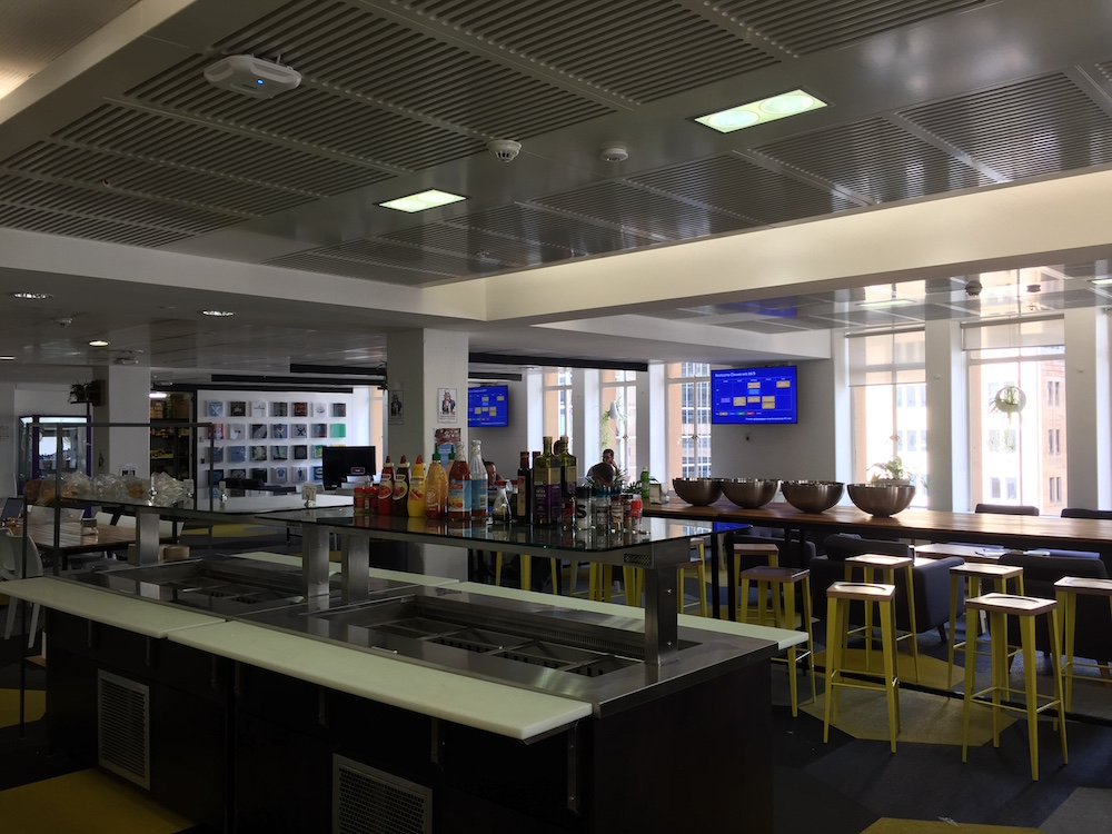 One of Atlassian's kitchens. Quite empty after a lunch
